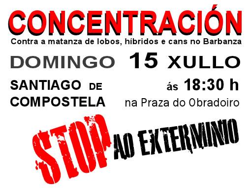 Concentración contra a matanza de lobos, híbridos e cans no Barbanza o 15 de xullo Image328