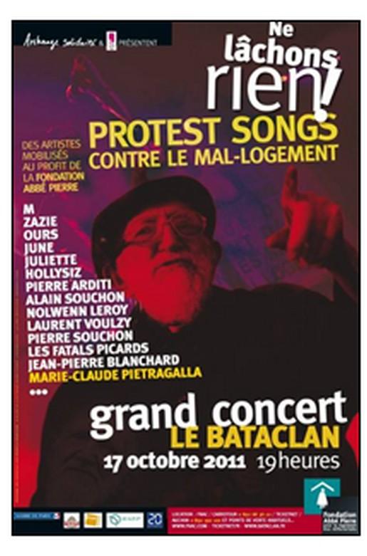 Concert de soutien à la Fondation Abbé Pierre au Bataclan le 17 Octobre  11081410