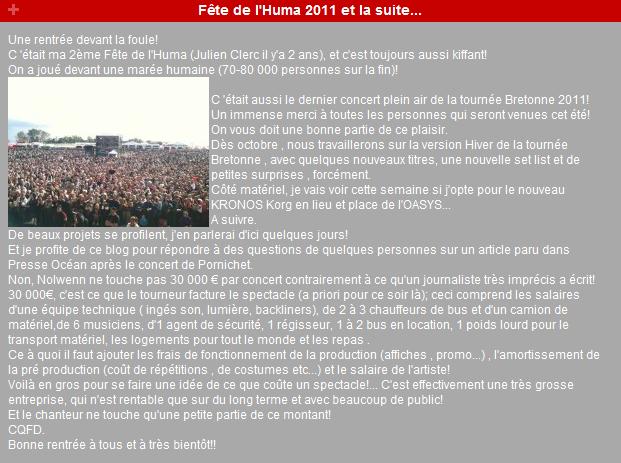 {Concert} Fête de l'Humanité 2011 les 16, 17, 18 Septembre   - Page 2 141