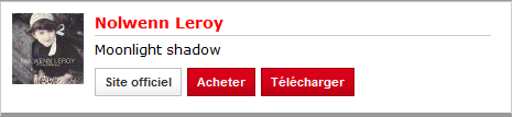 Moonlight Shadow sur la Playlist RTL 157
