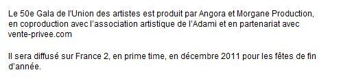 {TV}France 2 - Gala de l'Union - 22 Décembre 2011 160