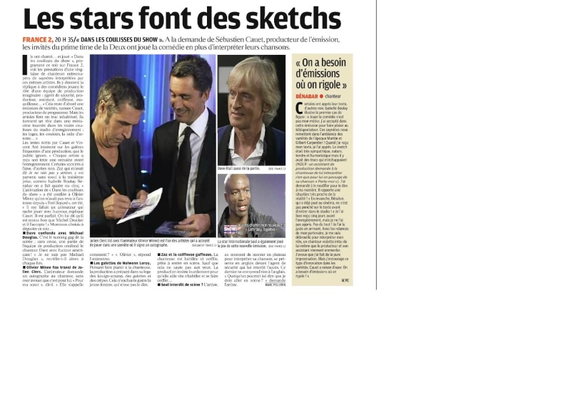 {TV} France 2 Dans les Coulisses du Show enregistrement le 25 Octobre, diffusion le 12 Novembre 1_bmp26
