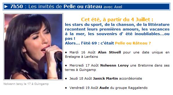 Pelle ou rateau-France Bleu Breizh Izel- 17 Aout 2011- 7h50 ( MP3) 21810