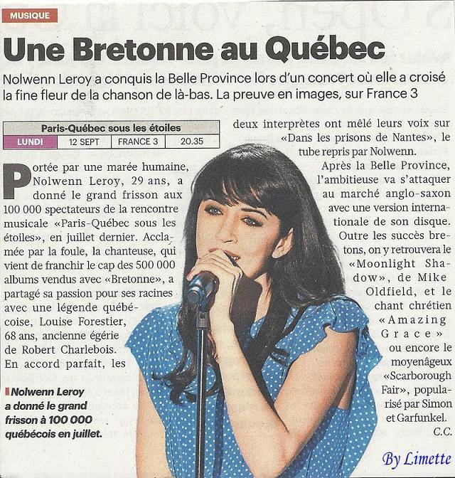 {TV} France 3 : Paris-Québec sous les étoiles 2011- Diffusion en Septembre   Tltopm10