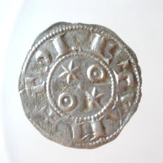 Dinero de Alfonso VI (Toledo, 1072-1109). Dos estrellas. P6030010