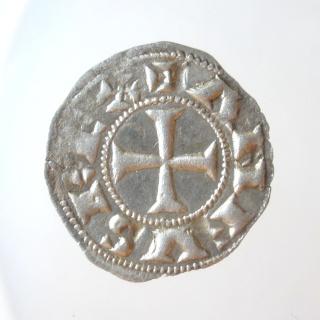 Dinero de Alfonso VI (Toledo, 1072-1109). Dos estrellas. P6030011