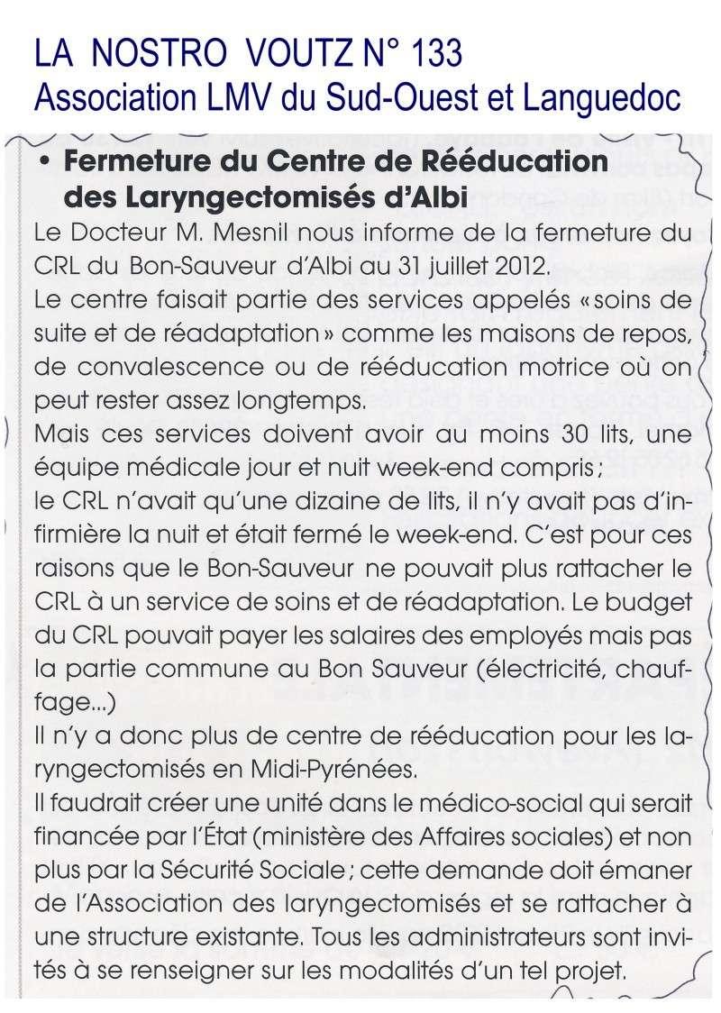 Fermeture du Centre de Rééducation d'Albi le 31 juillet 2012 Albi10