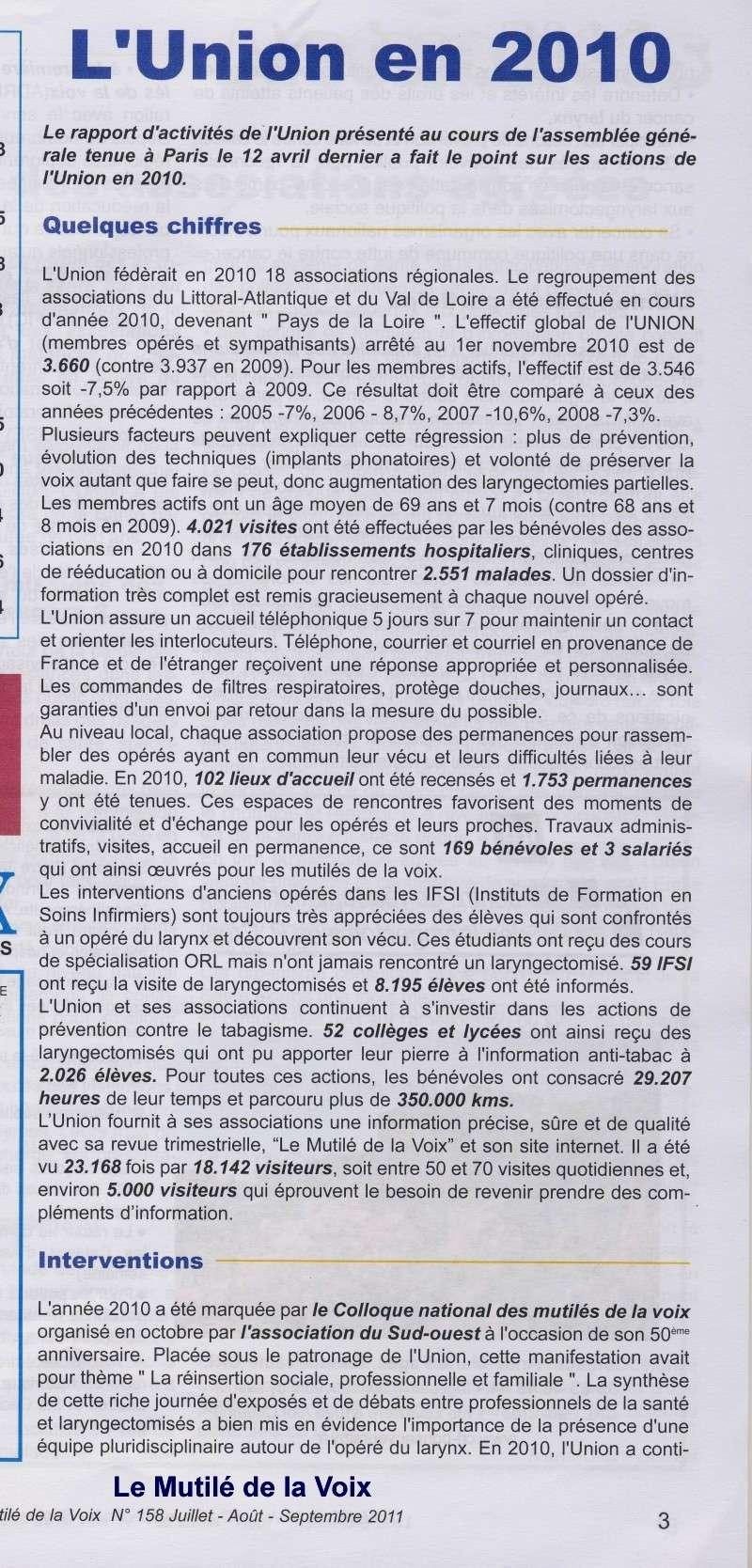 l'Union des Associations Françaises de Laryngectomisés et Mutilés de la Voix Captur12