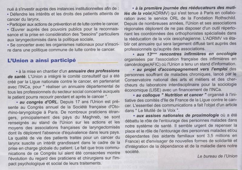 l'Union des Associations Françaises de Laryngectomisés et Mutilés de la Voix Captur13