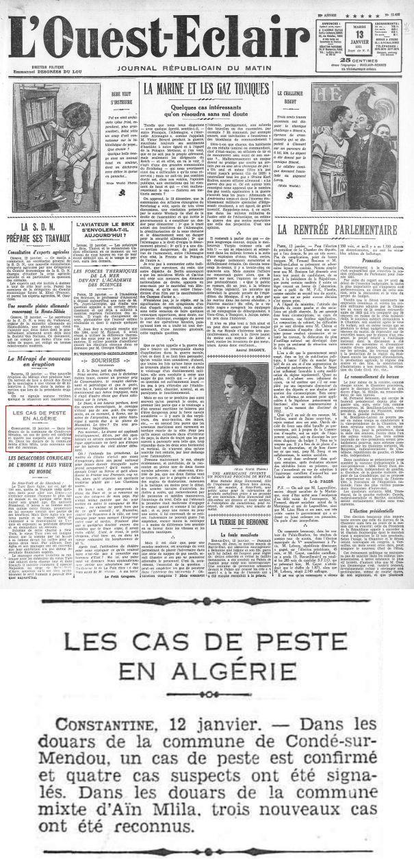 """Ain M'lila sur le journal """"L'OUEST-ECLAIR"""" du 13/01/1931 Ain_m_22"""