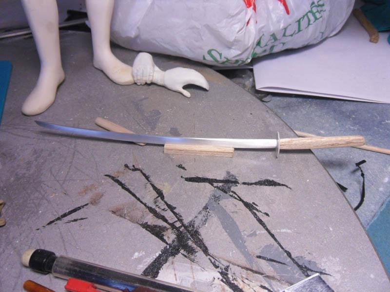 comment faire une lame dans de l'aluminium Katana10