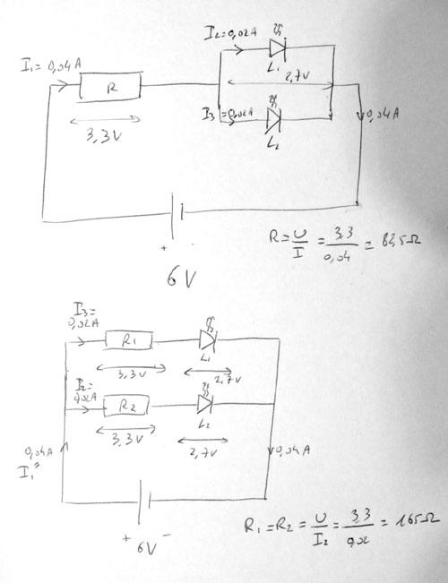petit montage électrique avec des LED Schema10