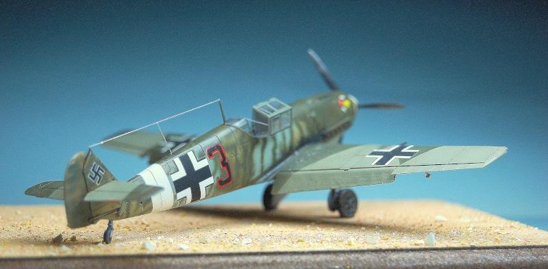 diorama   Messerschmitt Bf109 E-7 - le guépard - Airfix - 1/72 Armoir13