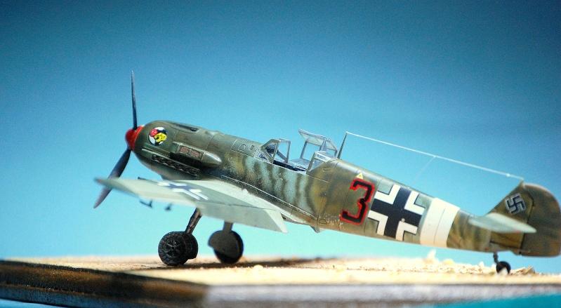 diorama   Messerschmitt Bf109 E-7 - le guépard - Airfix - 1/72 Armoir15