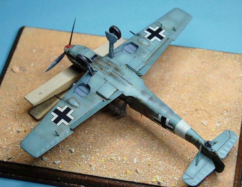 diorama   Messerschmitt Bf109 E-7 - le guépard - Airfix - 1/72 Armoir17