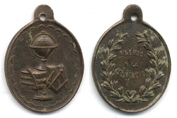 medalla al merito escolar - s. XX Medal210