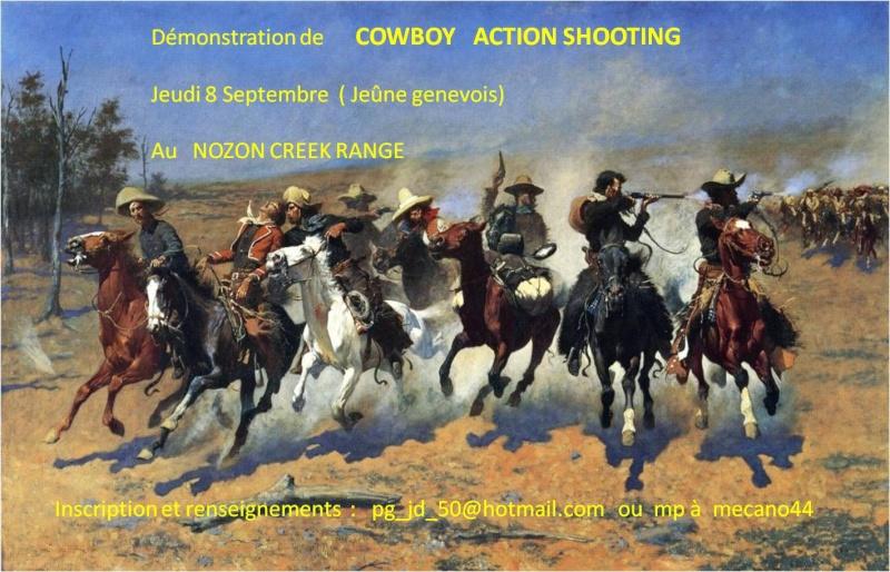 Démonstration  de COWBOY  ACTION SHOOTING    Nord vaudois Aff_ca10