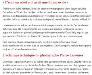 Un mystérieux ovni aperçu dans le ciel de Cahors, des témoins racontent Captur11