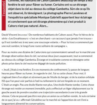 Un mystérieux ovni aperçu dans le ciel de Cahors, des témoins racontent Captur13