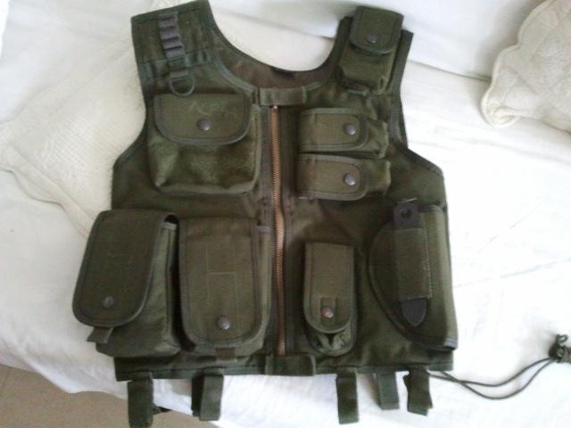 M15A4 Armalite RIS carbine, gillet OD, Glock 17 a bidouiller URGENT 2011-010