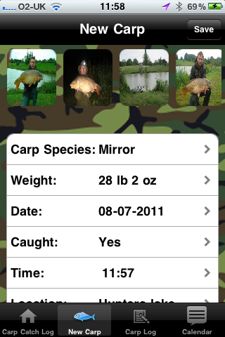 Carp Catch Log iPHONE app released today Photo410