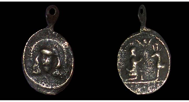 Médaille Ste-face-de-Laon / St-Hubert - XVII/XVIIIème 02411