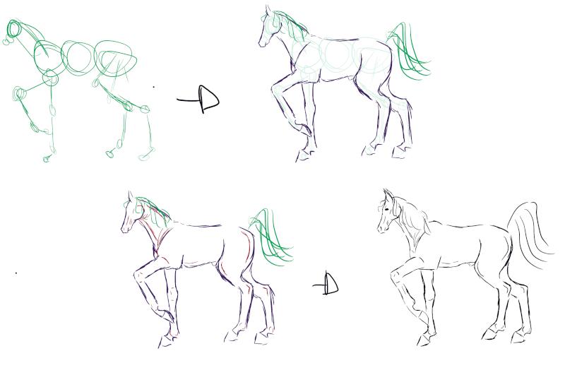 alors c'st vraiment crayonné... (cheval broutant) [noony4] Shema_10