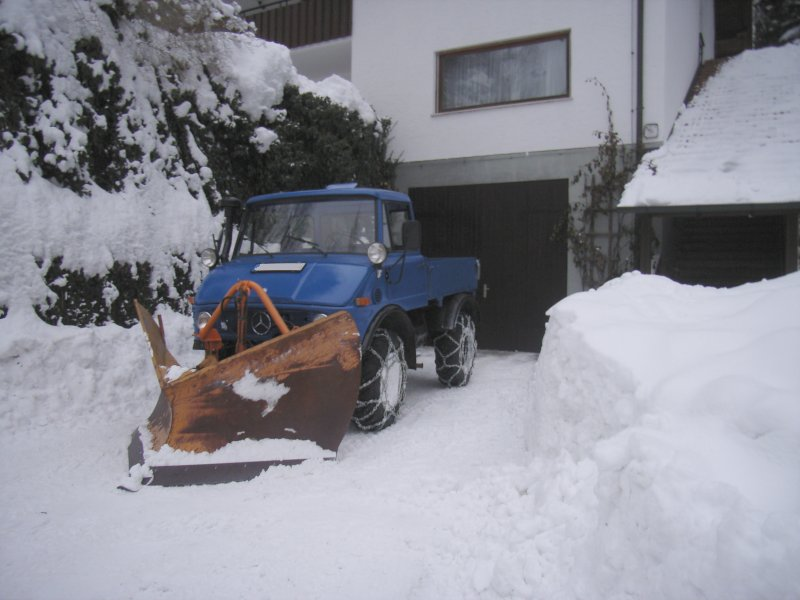 photos unimog chasse neige Schnee10