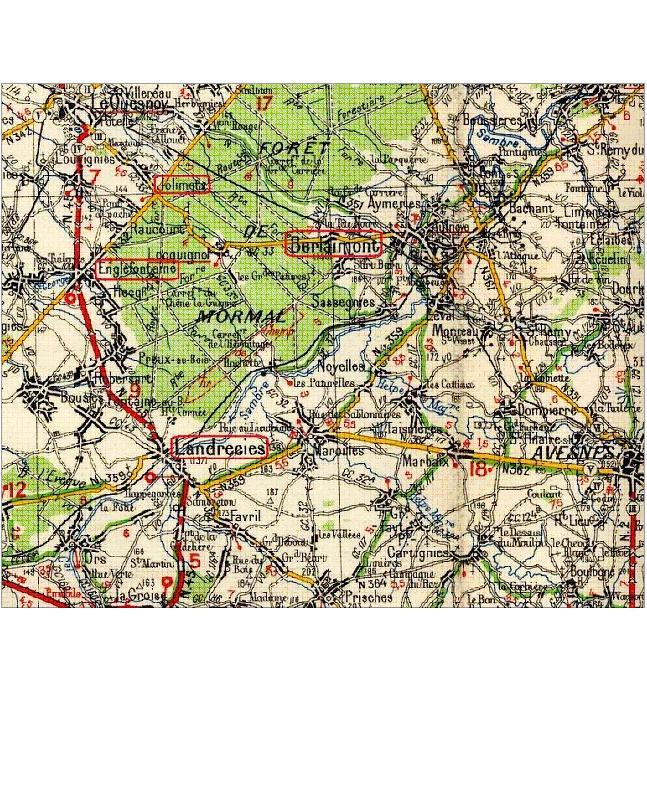 Les combats de Landrecies 17 mai 1940 Carte_10