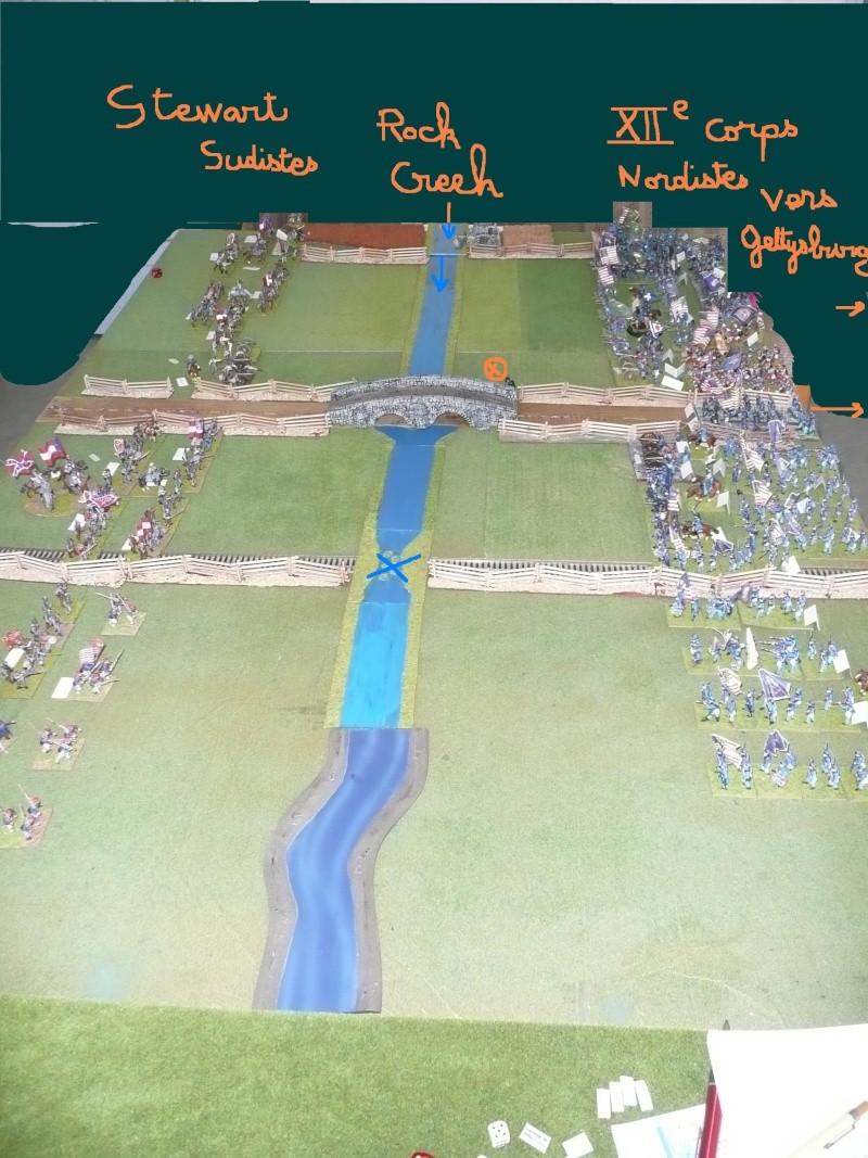 Campagne gettysburg - été 2011 - combat à Rock Creek, 30 juin, 11 heures P1050619