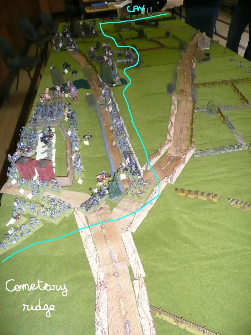 campagne Gettysburg décembre 2011 : assaut sur cemetary ridge P1060145