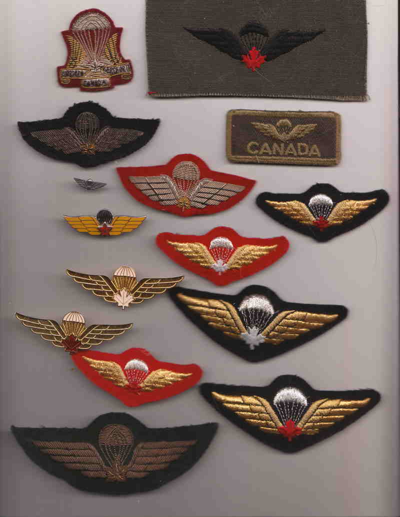 Canadian Para wings and patches help required. Canada10