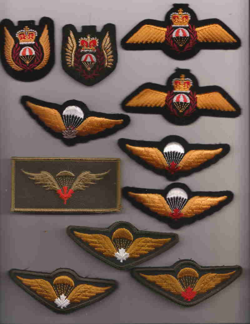 Canadian Para wings and patches help required. Canada11