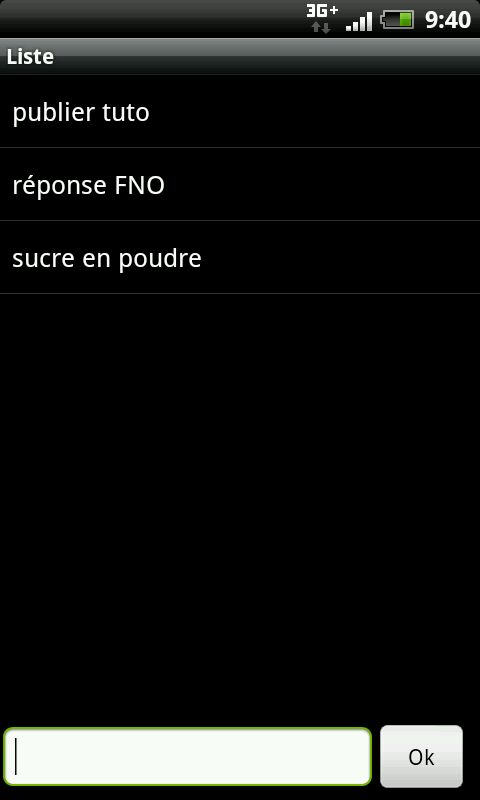 [Android] - Liste toute simple 2012-010