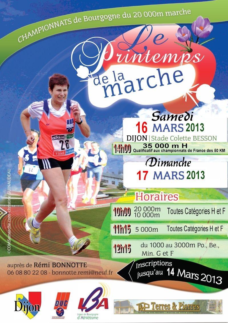 Le Printemps de la Marche les 16 et 17 mars 2013 à DIJON. Affich11