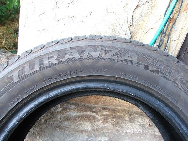 4 pneus 235/55R17 Bridgestone quasi neuf-petit prix Dscf5114