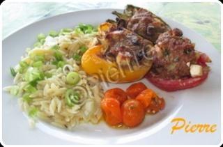 Hamburger de veau au féta à l'italienne !!(photo) Poivro19