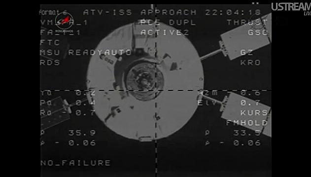 ATV-3: Amarrage, mission et fin de mission Sans_832