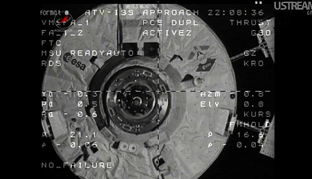 ATV-3: Amarrage, mission et fin de mission Sans_833