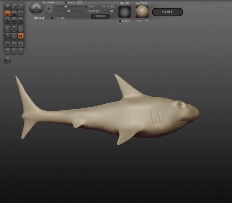 [TEST] Test Sculptris - Shark Bruce_12