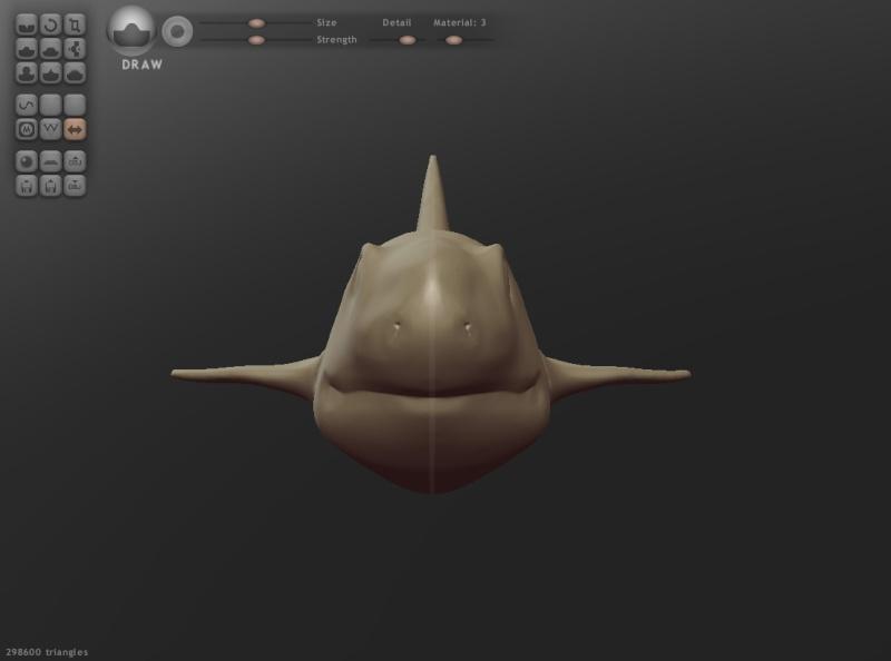 [TEST] Test Sculptris - Shark Shark_10