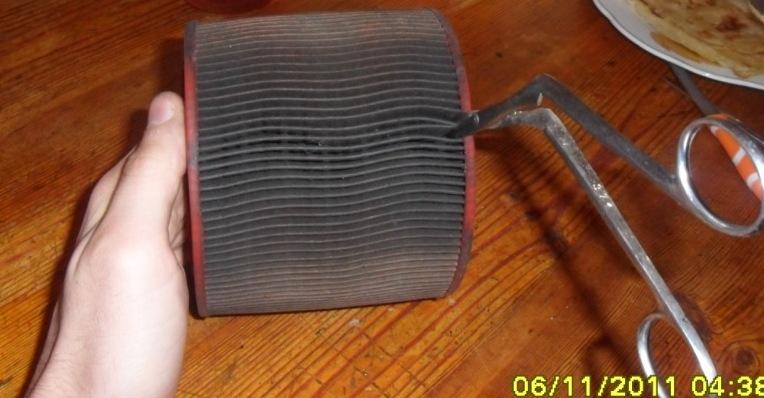 Fabrication d'un filtre à air pour /5 ou /6 à l'Africaine  ;-) Sam_2821