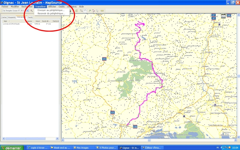 Itinéraire personnalisé sur GPS Zumo 660 Tutori12