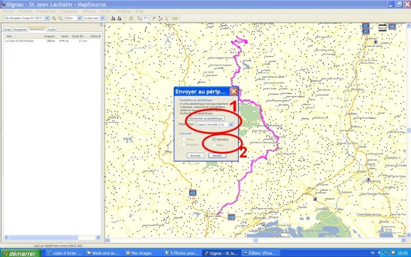 Itinéraire personnalisé sur GPS Zumo 660 Tutori13