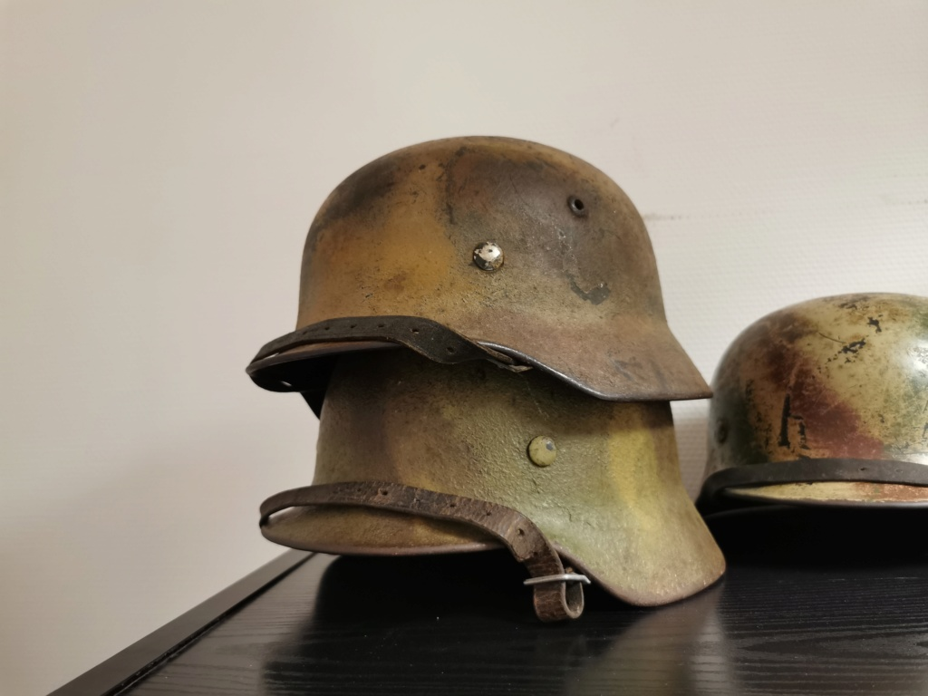 Le petit dernier : casque allemand modèle 35 camo Normandie Img_2035