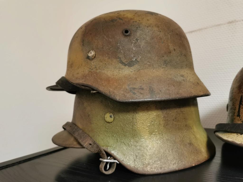 Le petit dernier : casque allemand modèle 35 camo Normandie Img_2036