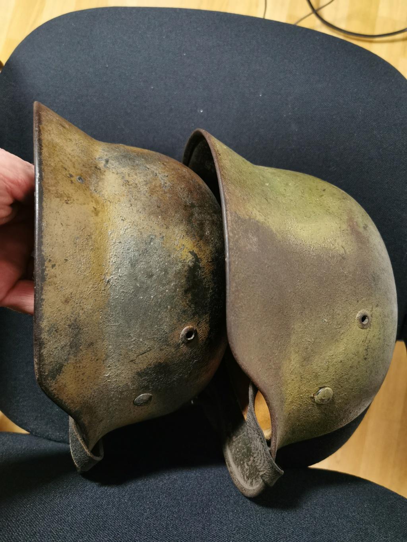 Le petit dernier : casque allemand modèle 35 camo Normandie Img_2037
