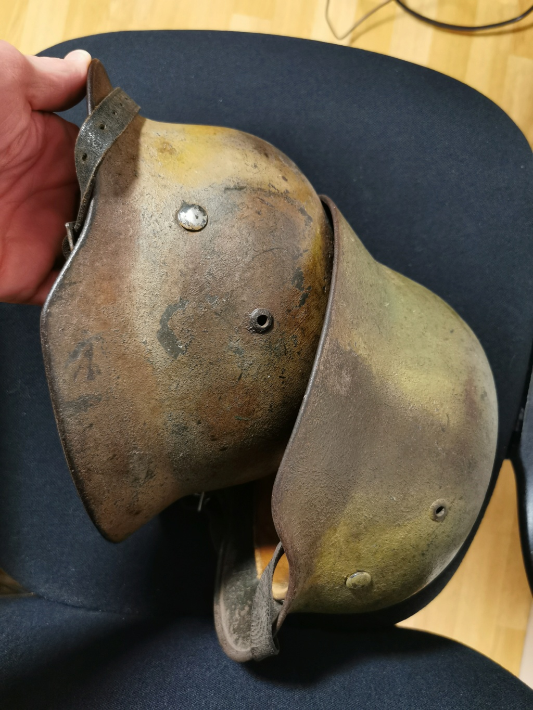 Le petit dernier : casque allemand modèle 35 camo Normandie Img_2038