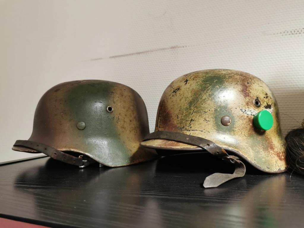 Le petit dernier : casque allemand modèle 35 camo Normandie Img_2040