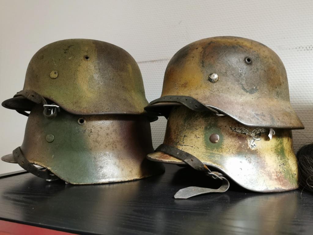 Le petit dernier : casque allemand modèle 35 camo Normandie Img_2041
